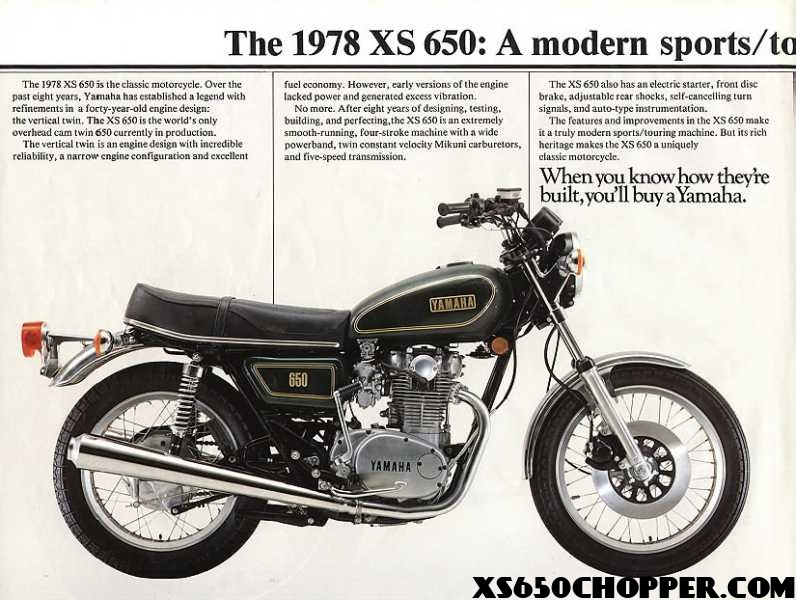 1980 Yamaha xs650 Special Vintage Ads | XS650 Chopper