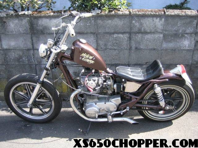 The Brown xs650: New Wave Japanese Brat Style...