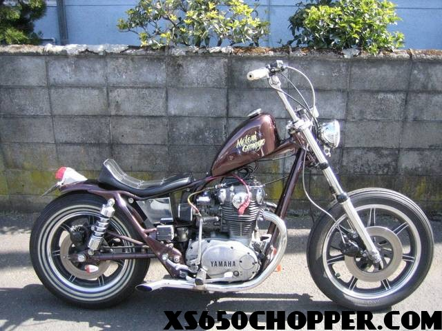 The Brown Xs650 New Wave Japanese Brat Style