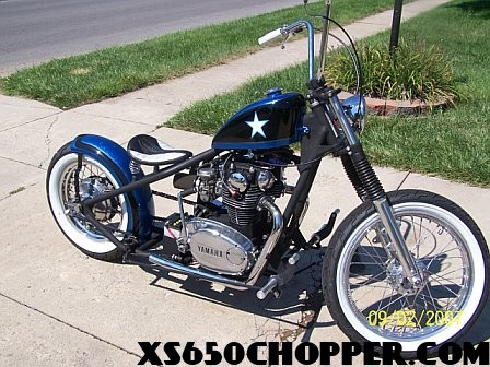 Candy blue XS Bobber I built