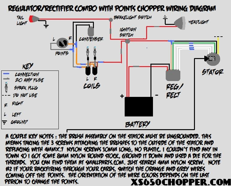 regulator/rectifier combo with points wiring diagramnoid chopperwiringdiagram