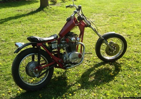 1973 xs650 chopper finished