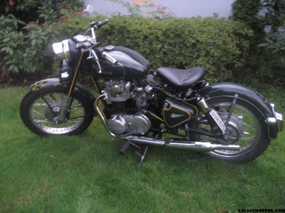 XS650 powered Royal Enfield Bullet