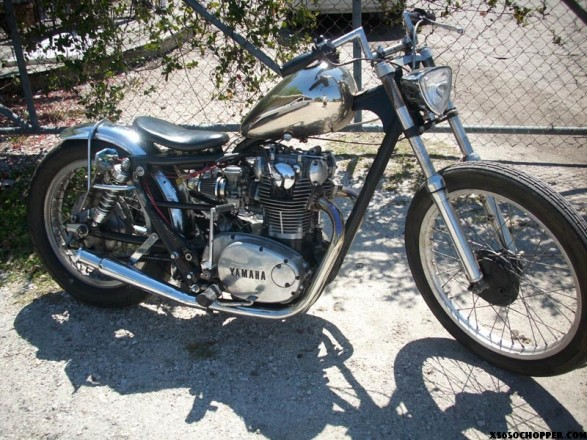 Nickel plated- 1970 xs-1 bobber