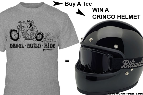 Buy a T-shirt – Win a HELMET