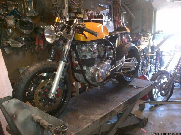 Jeremy Bramall This Bike Was A Basket Case 1978 XS650 Brought To Us By Customer I Talked Him Into Letting Build Norton Featherbed Style Frame
