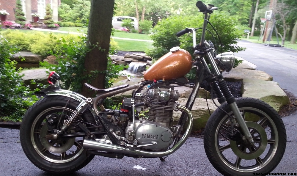 gary 39 s 1980 orange sunshine xs650 chopper