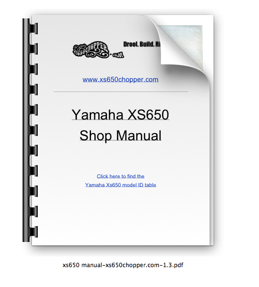 Get The XS650 Shop Manual…