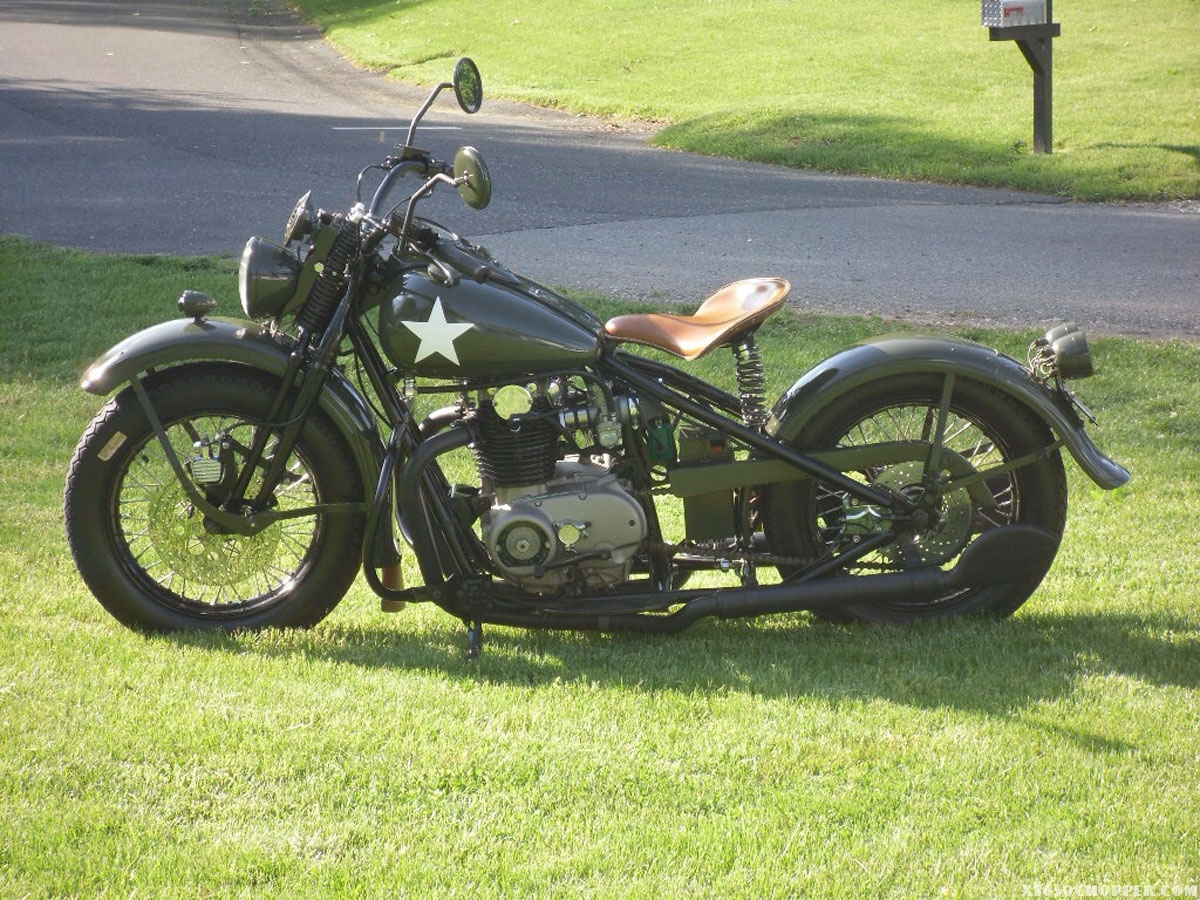 WWII Theme Military xs650 | XS650 Chopper